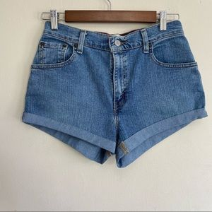 Levi's 550 Jean Shorts Rolled 26